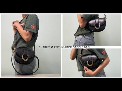 UNBOXING/FIRST IMPRESSION - Charles \u0026 Keith Gabine Saddle Bag 👜