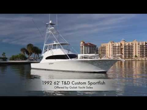 1992 62' T&D Custom Sportfish For Sale  In Sarasota, FL