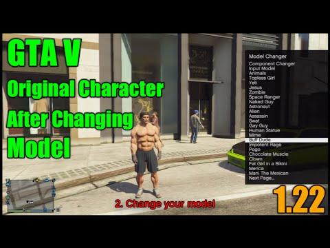 GTA V 1 22 | Get Original Character Back After Changing Model With Modmenu  [1 22]