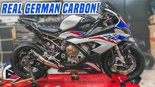 BMW S1000RR Full Carbon Install! [Part 1]