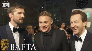 Ben Hardy, Gwilym Lee & Joseph Mazzello on Rami Malek & Bohemian Rhapsody at the BAFTAs