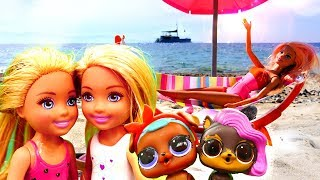 Kız oyunu. Barbie ve kızları denize gidiyor! Tatil yapma