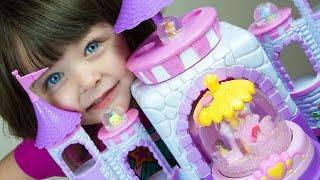 Glitzi Globes Disney Princess Toys Spin & Sparkle Castle Ariel Aurora Belle