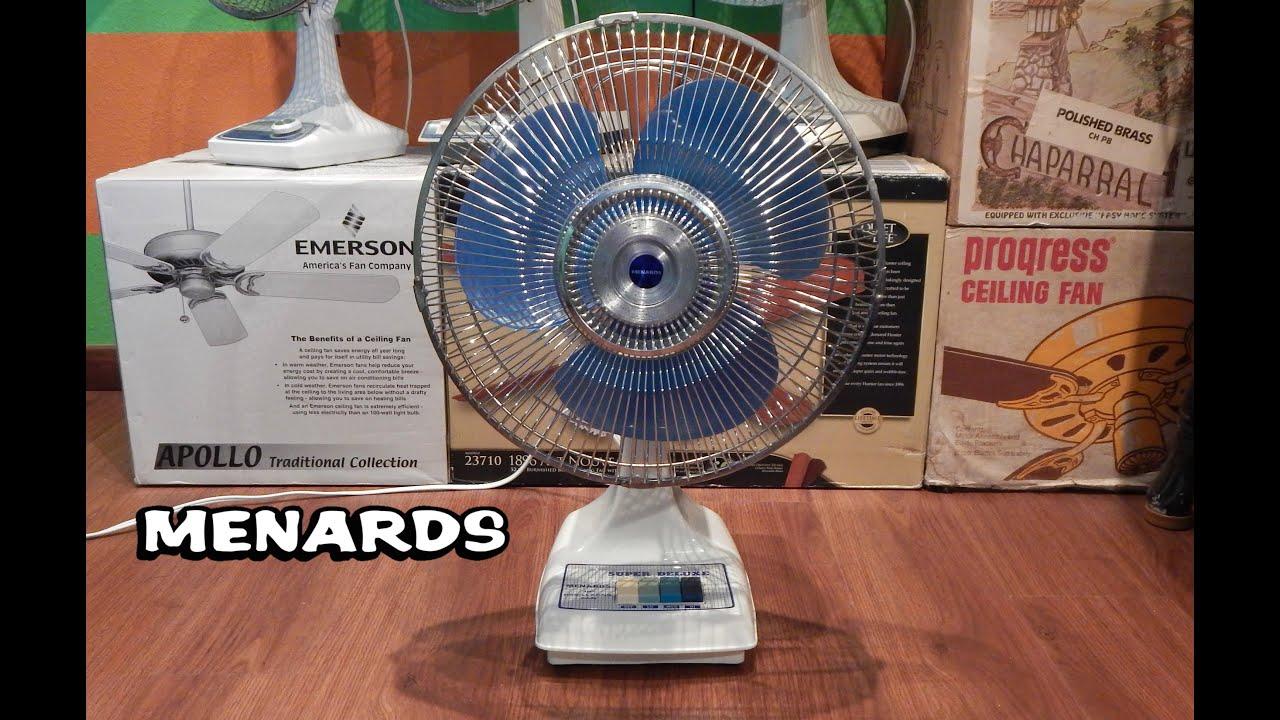 Menards Super Deluxe Oscillating Fan Youtube