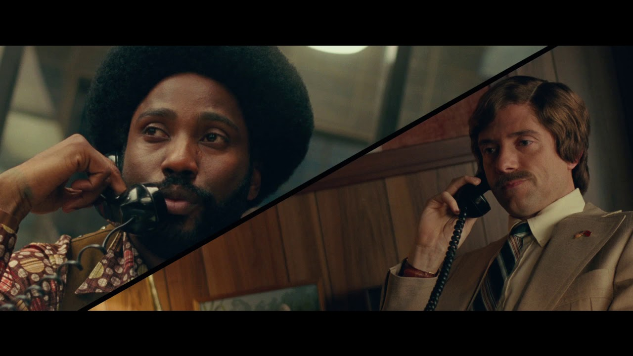 "Alt=""Ron calls Duke in BlacKkKlansman."""