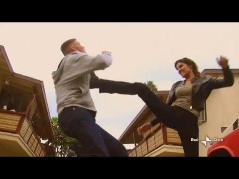 image Karate woman brutally beats man and