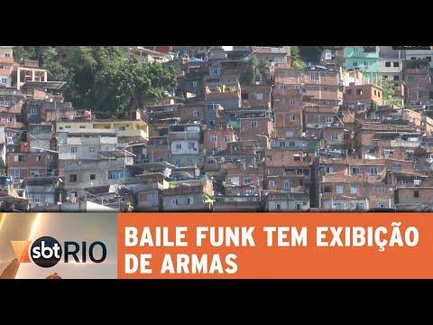 Baile funk na Rocinha tem exibição de armas