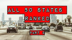 The Ranking of all 50 United States Part 2  # 30 to 11