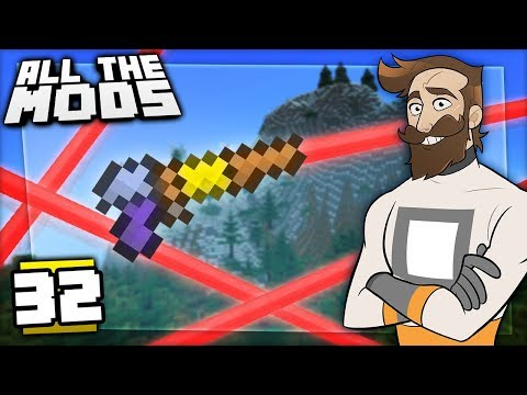 Minecraft All The Mods #32 - LASER WIZARDS thumbnail