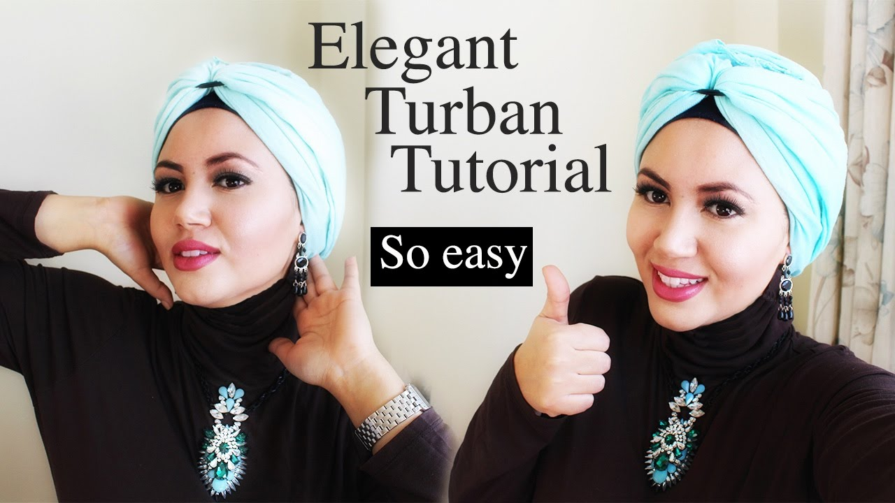 Turban Hijab Tutorial With Pashmina Very Easy Tuto Turban Trs