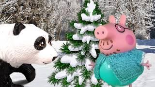 Свин под Новый ГОД встретил медведя | Новогодний мультик про Свинку Пеппу