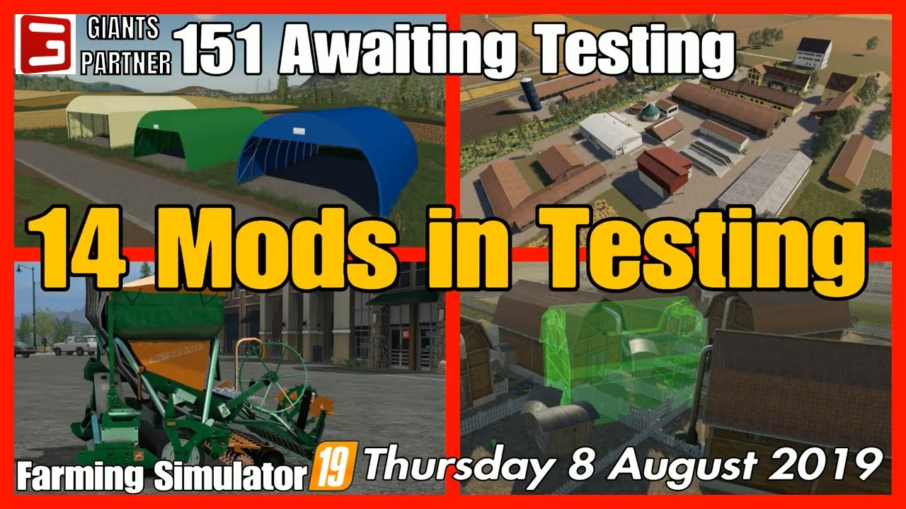 Mods in Testing list fs19 Giants mods in testing #fs19modsreview ls19