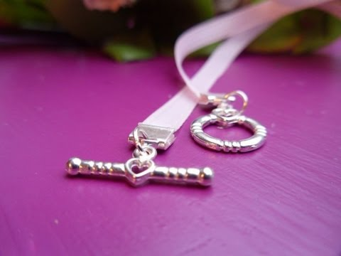 How to Attach Ribbon Ends -- Make Your Own Ribbon Necklace!