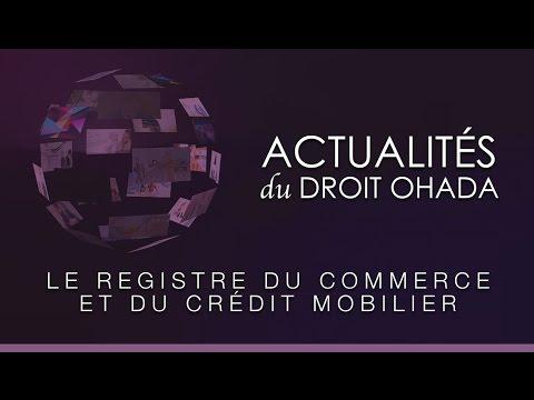 Le registre du commerce et du crédit mobilier