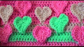Узор Объемные сердечки - Pattern Volumetric hearts(Узор Объемные сердечки - Pattern Volumetric hearts Схема к уроку - http://gaanna.ru/page/uzor-obemnye-serdechki-pattern-volumetric-hearts Узор ..., 2015-07-04T14:27:46.000Z)