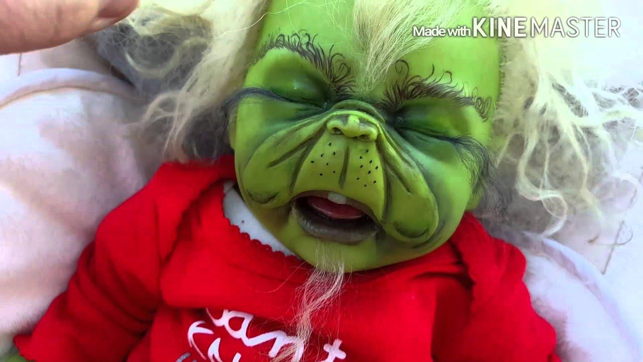 "Details - Grinch ""Grinchmas"" Reborn Baby - YouTube"