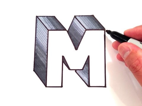 how to draw letters in 3d how to draw the letter m in 3d 24778