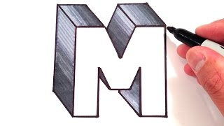 How to Draw the Letter M in 3D