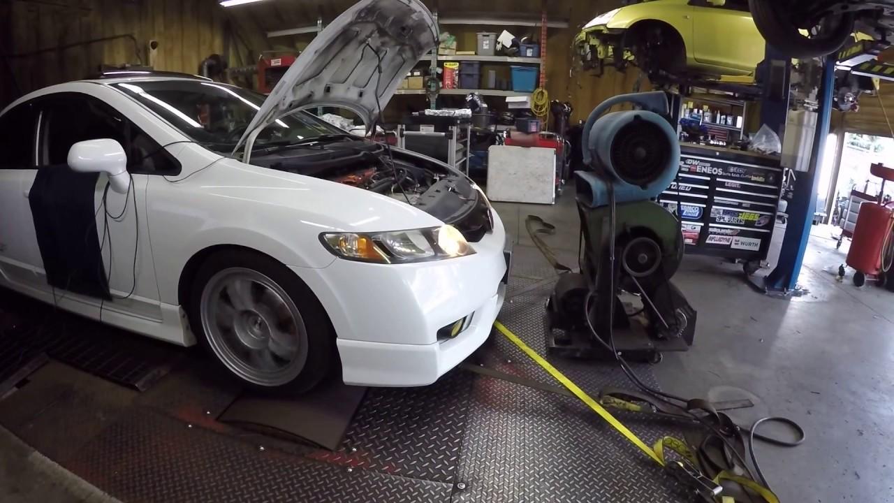 Honda Civic Si Fa5 All Motor Dyno Pull With A Hybrid Racing Cold Air Intake And 1000cc Injectors