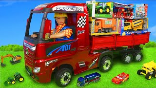 Truck Surprise Toys: Excavator, Train, Fire Truck, Police Cars & Tractor Toy Vehicles for Kids