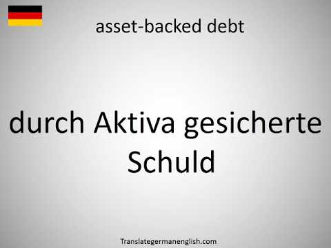 How to say asset-backed debt in German?