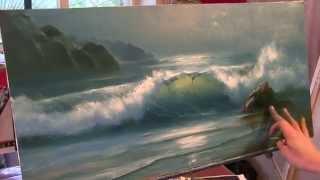 Урок морского пейзажа маслом. Александр Южаков