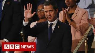 Venezuela's Juan Guaidó cheered at US Congress speech - BBC News