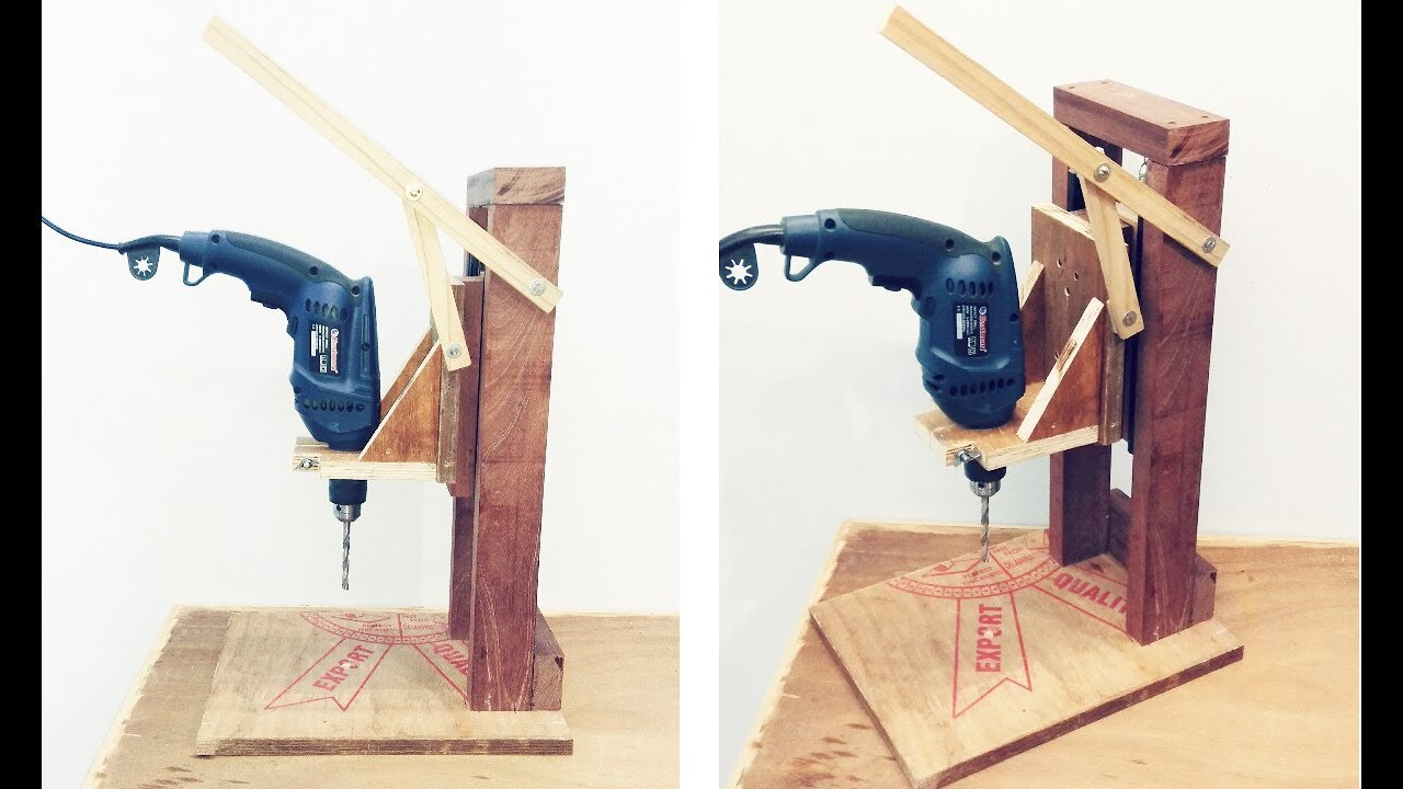 Make A Homemade Drill Press Stand Diy Homemade Drill