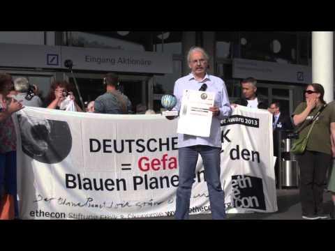 Ansprache Axel Köhler-Schnura, Ethecon Blackplanet-Award an Deutsche Bank, Frankfurt, 22.05.2014