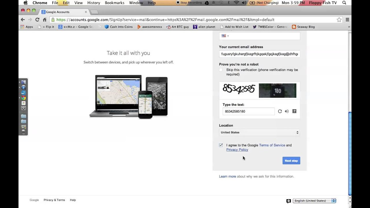 create google account without phone number