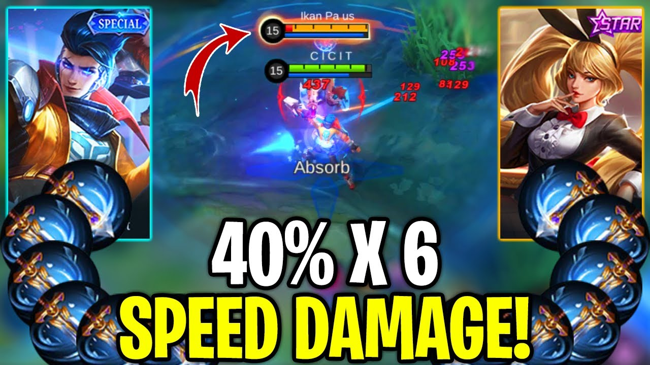 Claude Vs Layla, Full Attack Speed 40% x 6 - Mobile Legends