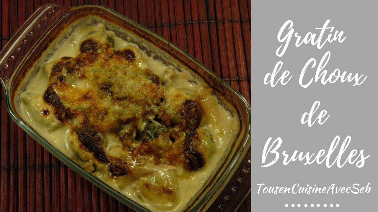 Gratin de choux de bruxelles au gorgonzola tousencuisineavecseb youtube - Gratin de choux de bruxelles ...