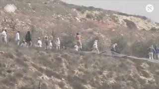 Jewish settlers throwing rocks at Palestinians near Yitzhar