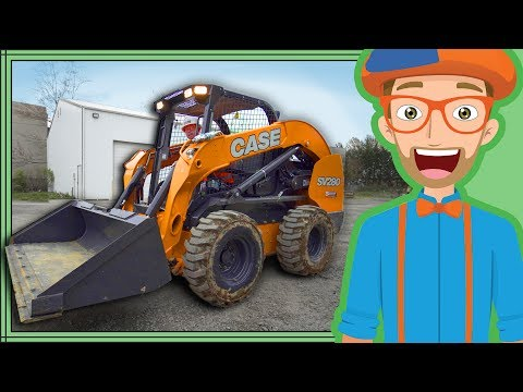 Thumbnail: Skid Steer with Blippi | Construction Trucks for Kids