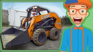 Skid Steer with Blippi | Construction Trucks for Kids