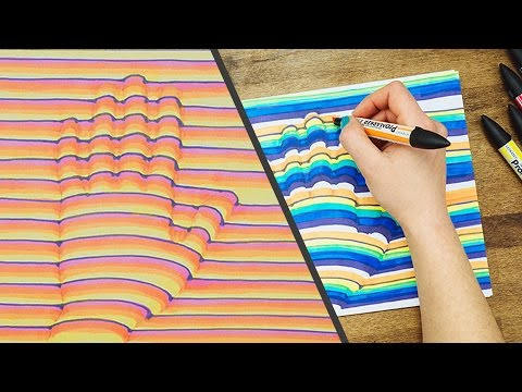 How To Draw Your Hand In 3D