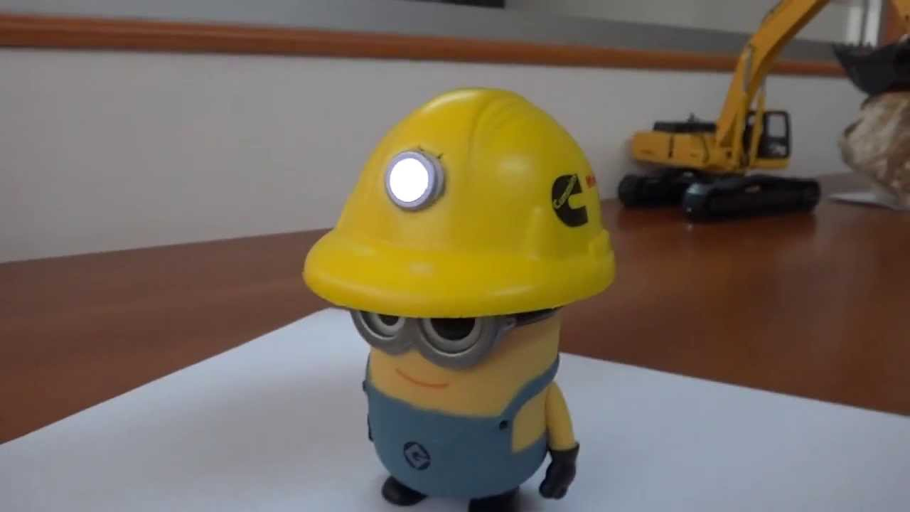 Miner Minion Real Cap Lamp Youtube