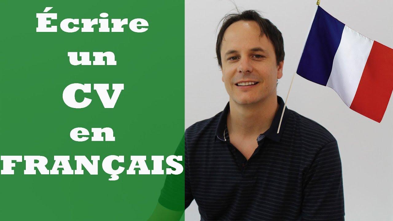 ecrire un cv en francais en ligne