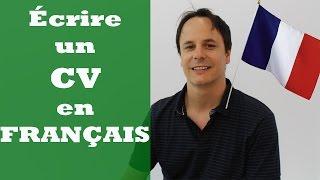 Faire un CV en français - Apprendre le français avec Pierre
