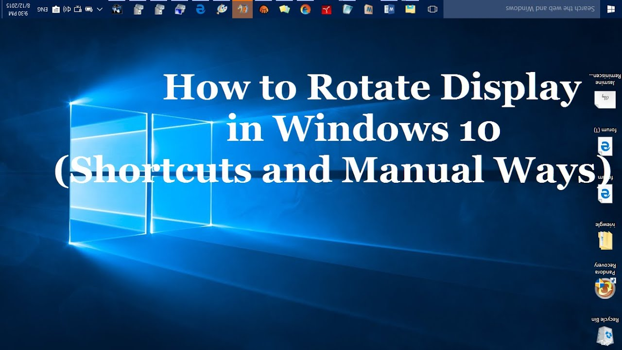 How to rotate display screen in windows 10 shortcuts and manual how to rotate display screen in windows 10 shortcuts and manual ways ccuart Images