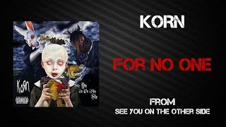 Korn - For No One [Lyrics Video]