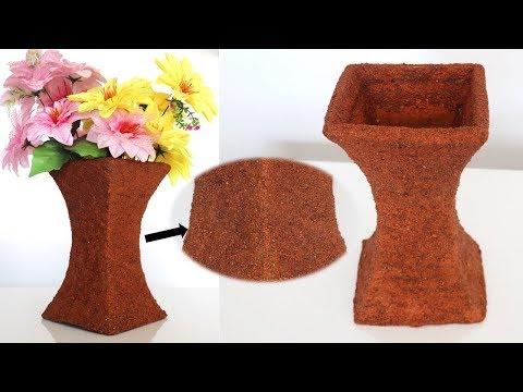 DIY handmade flower vase    flower pot    best out of waste DIY & craft