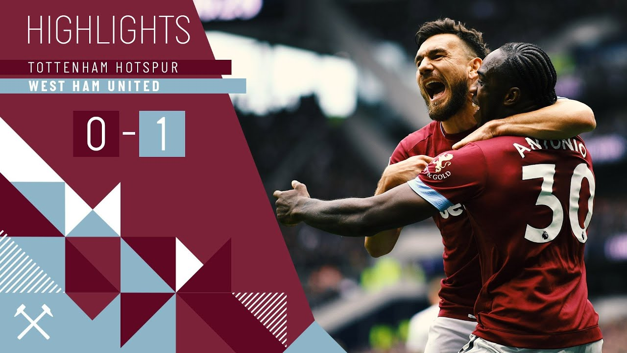 HIGHLIGHTS | TOTTENHAM HOTSPUR 0-1 WEST HAM UNITED - YouTube