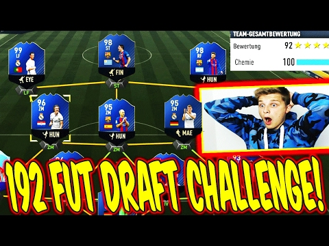OMFG! 192 RATED FUT DRAFT CHALLENGE!! 🔥⛔️😝 - FIFA 17 ULTIMAT