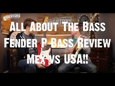 Download Youtube: All About The Bass - Fender P Bass Review - Mex vs USA!!