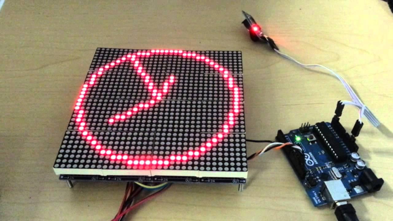 Led Dot Matrix Analog Clock Youtube
