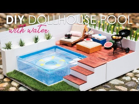 DIY Dollhouse Swimming Pool Set Tutorial