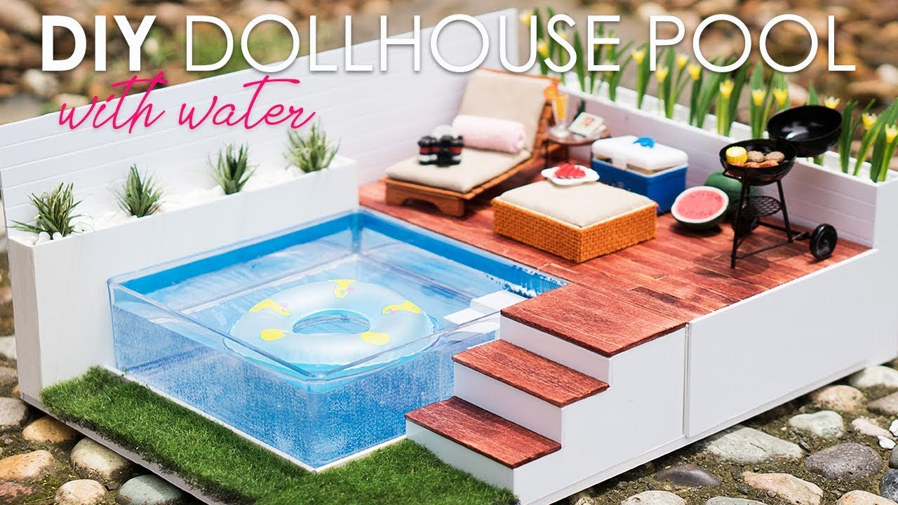 Diy Dollhouse Miniature Swimming Pool Youtube
