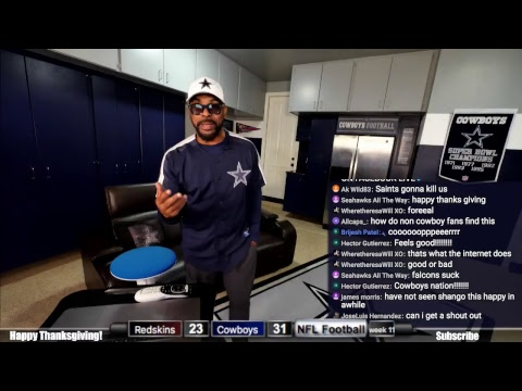 Cowboys Vs Redskins Watchalong Thanksgiving Stream