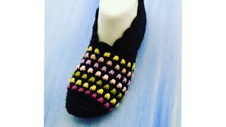 Yeni model tığ işi patik Part-1patik tığişipatik crochet